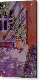 Acrylic Print featuring the painting A Glimpse Of Santa Fe by Ann Peck