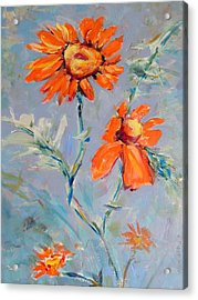 Acrylic Print featuring the painting A Glow by Mary Schiros