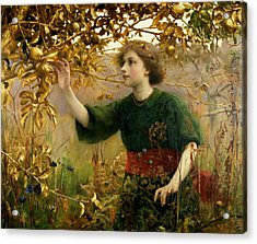 A Golden Dream Acrylic Print by Thomas Cooper Gotch