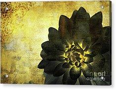A Golden Heart Acrylic Print
