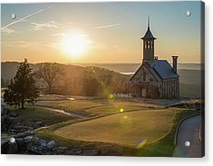Acrylic Print featuring the photograph A Golfers Paradise - Top Of The Rock - Branson Missouri by Gregory Ballos