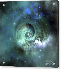 A Gorgeous Nebula In Outer Space Acrylic Print by Corey Ford