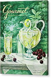 A Gourmet Cover Of Glassware Acrylic Print by Hilary Knight