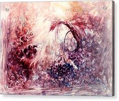 A Grape Fairy Tale Acrylic Print by Rachel Christine Nowicki