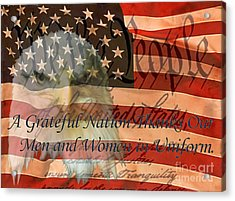 Acrylic Print featuring the photograph A Grateful Nation by Ken Frischkorn