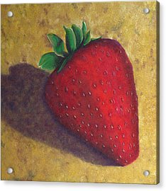 A Great Big Strawberry Acrylic Print by Helen Eaton