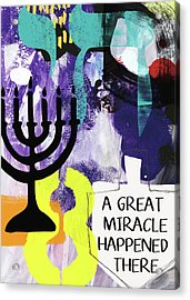 A Great Miracle- Art By Linda Woods Acrylic Print