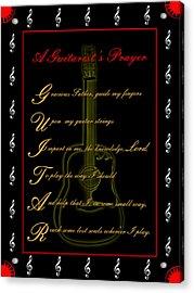 A Guitarist Prayer_2 Acrylic Print by Joe Greenidge