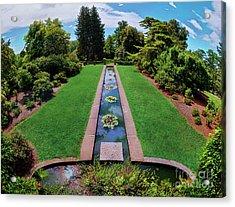 A Happy Garden Acrylic Print by Mark Miller