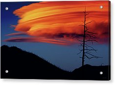 A Haunting Sunset Acrylic Print
