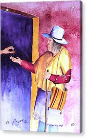 A Helping Hand Acrylic Print by Buster Dight