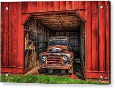 A Hiding Place 1949 Ford Pickup Truck Acrylic Print