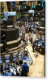 A High Angle View Of The New York Stock Acrylic Print by Justin Guariglia