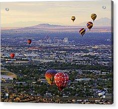 A Hot Air Ride To Albuquerque Cropped Acrylic Print