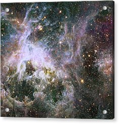 Acrylic Print featuring the photograph A Hubble Infrared View Of The Tarantula Nebula by Nasa