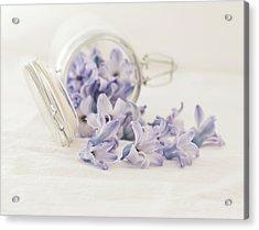 Acrylic Print featuring the photograph A Jar Of Purple Sweetness by Kim Hojnacki