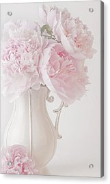 A Jug Of Soft Pink Peonies Acrylic Print