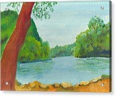 A June Day At Hidden Falls Acrylic Print