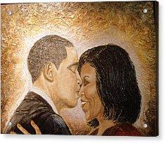 A Kiss For A Queen  Acrylic Print
