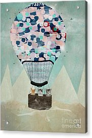 Acrylic Print featuring the painting A Kitten Adventure by Bri B