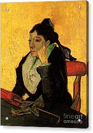 A L Arlesienne Madame Ginoux With Gloves And Umbre Acrylic Print by Vincent Van Gogh