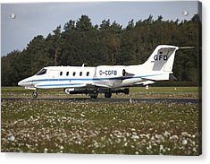 A Learjet Of Gfd With Electronic Acrylic Print by Timm Ziegenthaler