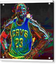 A Lebron James Creative Edit Digital Acrylic Print