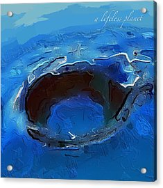 A Lifeless Planet Blue Acrylic Print