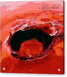 A Lifeless Planet Red Acrylic Print