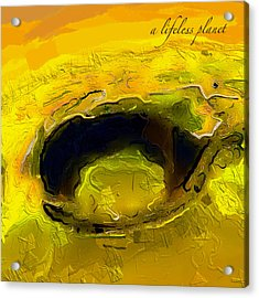 A Lifeless Planet Yellow Acrylic Print