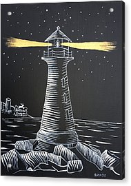 Acrylic Print featuring the painting A Light In The Darkness by Nathan Rhoads