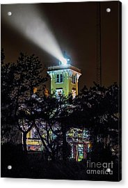 Acrylic Print featuring the photograph A Light In The Darkness by Nick Zelinsky