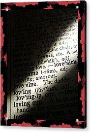 A Light On Love Acrylic Print