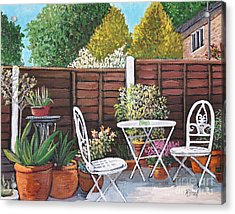 A Little British Garden Acrylic Print
