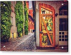 A Little Corner Of Riga  Acrylic Print by Carol Japp