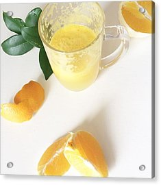 A Little Fresh Oj, Because Oranges Are Acrylic Print