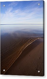 Acrylic Print featuring the photograph A Little Lip, Lake Superior by Jane Melgaard