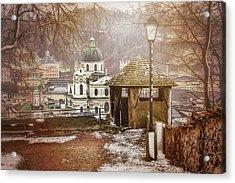 A Little Snow In Salzburg  Acrylic Print