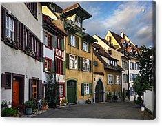 A Little Swiss Street Acrylic Print by Carol Japp