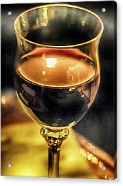 A Little Wine Acrylic Print by C H Apperson