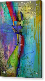 Acrylic Print featuring the digital art A Little Wining by Greg Sharpe