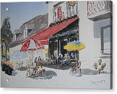 A L'ombre D'une  Terrasse D'un  Cafe  Shadow Of An Outdoor Pub Acrylic Print by Dominique Serusier