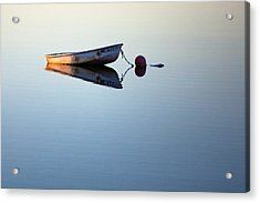 A Lone Boat On Calm Waters Acrylic Print