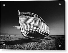 A Lonely Boat Acrylic Print