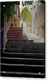 A Long Climb Up Tuscan Steps Acrylic Print