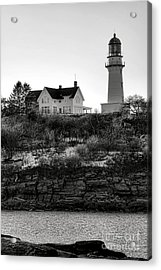 A Long Winter At Cape Elizabeth Acrylic Print by Olivier Le Queinec