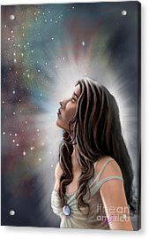 Acrylic Print featuring the painting A Longing For The Stars by Amyla Silverflame