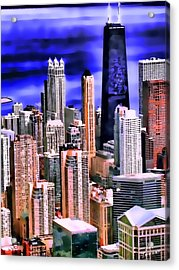 A Look At Chicago Acrylic Print by Kathy Tarochione