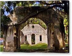 A Look Into The Chapel Of Ease St. Helena Island Beaufort Sc Acrylic Print