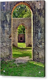 A Look Through Chapel Of Ease St. Helena Island Beaufort Sc Acrylic Print